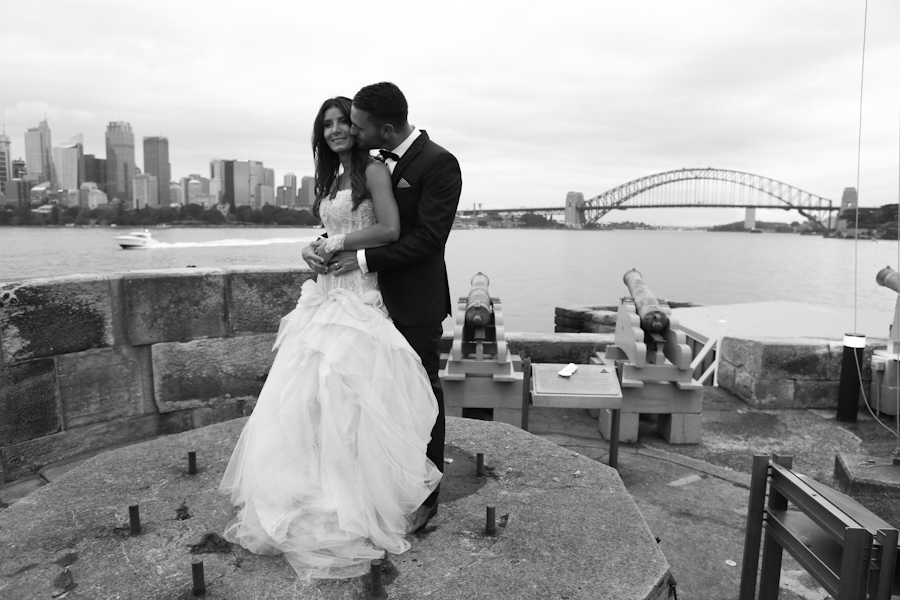 Wedding Fort Denison, Sydney Harbour, 1st March 2014
